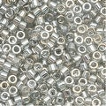 Miyuki Delica Seed Beads 11/0 Transparent Grey Luster DB114 7.2 GR - Thumbnail 0