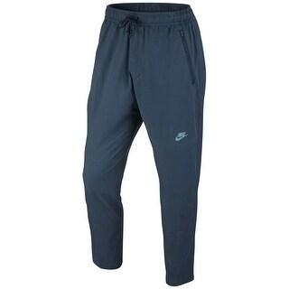 Nike NEW Blue Mens Size 2XL Slim-Fit Pull-On Logo-Print Pants Stretch