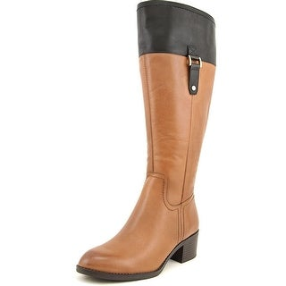 Franco Sarto Lizbeth Wide Calf Women Round Toe Leather Knee High Boot