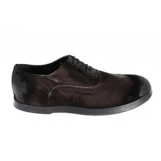 Dolce & Gabbana Brown Velvet Casual Mens Laceups Shoes - 40