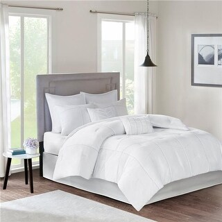 510 Design Talley Comforter Set, White - Cal King - 8 Piece