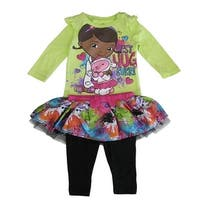 Disney Baby Girls Multi Color Doc McStuffins Print Tutu Pant Set 12-24M