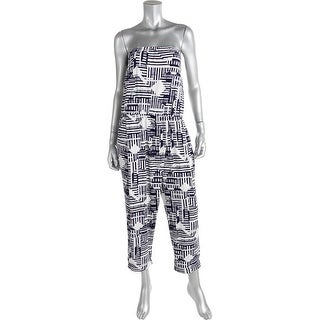 Kiind Of Womens Stretch Pattern Jumpsuit