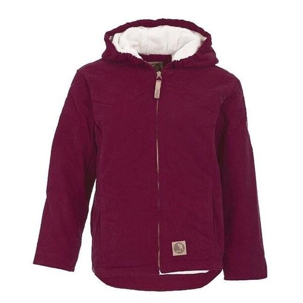 Berne Apparel Bhj41Plmr440 Girls Washed Hooded Coat Plum - Large