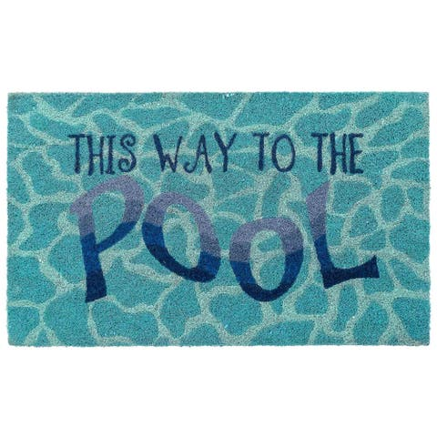 Liora Manne Natura This Way To The Pool Outdoor Mat Water