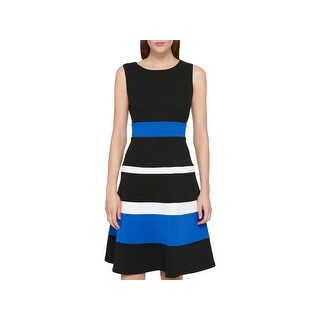 Tommy Hilfiger Womens Wear to Work Dress Sleeveless Colorblock