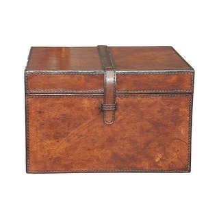 """GuildMaster 8819-026  10-1/2"""" Wide Leather Box - Brown"""