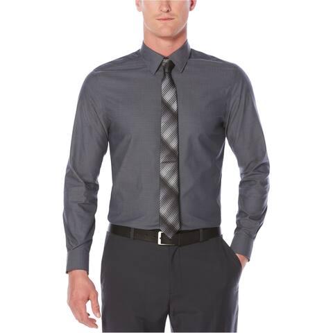 Perry Ellis Mens Classic-Fit Chevron Button Up Dress Shirt