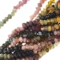 Graduated Tourmaline Gemstone Beads, Faceted Rondelles 2x3mm, 13 Inch Strand, Multi - Thumbnail 0