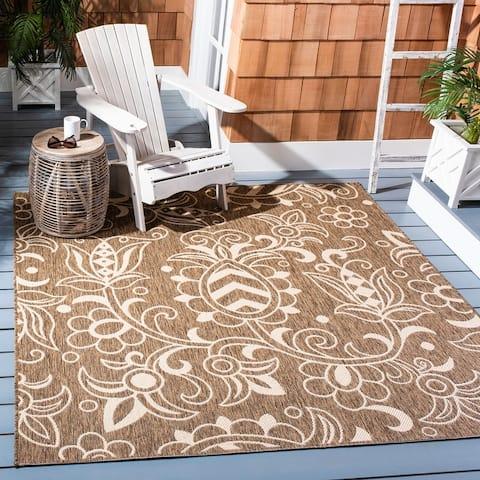 SAFAVIEH Beach House Sebiha Indoor/ Outdoor Patio Backyard Rug