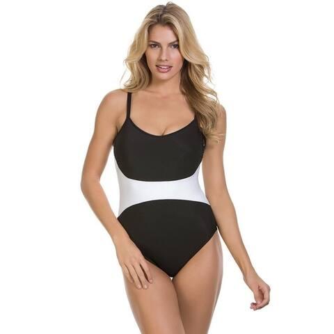 Magicsuit Women's Solids Serena One-Piece Black Swimsuit US SIZE 14
