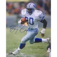 Barry Sanders Signed 16x20 Detroit Lions White Jersey Photo JSA+SI COA 07d760a09