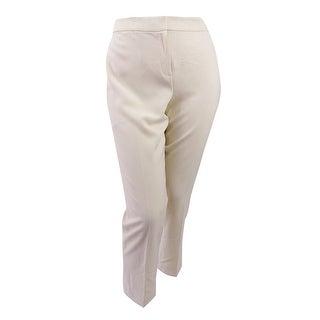 Kasper Women's Petite Kristy Straight-Leg Pants - Parchment - 16p