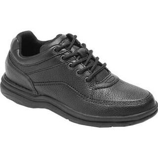 Rockport Men's World Tour Classic Walking Shoe Black Tumbled