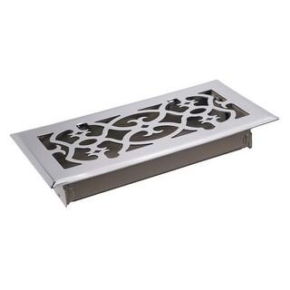 TA Industries C164-OSN 04X10 Scroll Floor Register, Satin Nickel