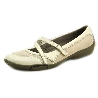 Auditions Crescent Women W Round Toe Leather White Mary Janes