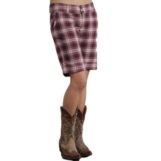 Stetson Western Shorts Womens Plaid Red Brick