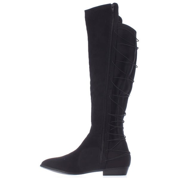 Material Girl Womens Calyn Fabric Closed Toe Over Knee Fashion Boots