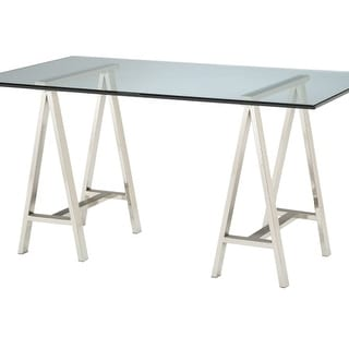 """Sterling Industries 6040747 24"""" Height Architect's Table Base - Polished Nickel"""