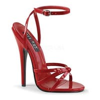 Devious Women's Domina 108 Ankle-Strap Sandal Red Patent