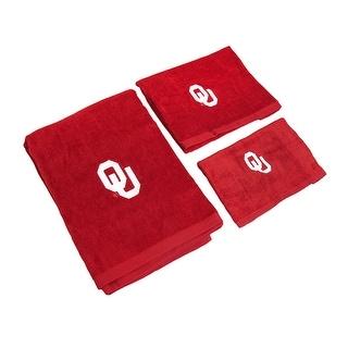 Oklahoma Sooners 3 Piece Bath Towel Set - Red