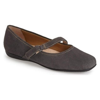 Trotters NEW Gray Simmy Shoes Size 6N Ballet Flats Graphite Suede