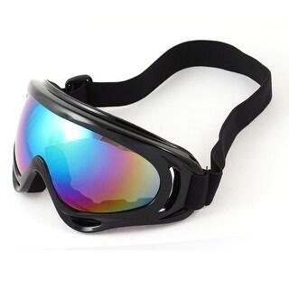 Unique Bargains Adjustable Elastic Band Black Rimmed Wide Angle Ski Skate Goggles for Man Woman
