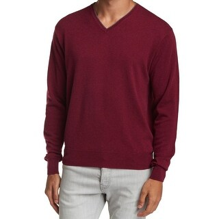 Peter Millar NEW Red Mens Size XL Pullover Tipped V-Neck Sweater