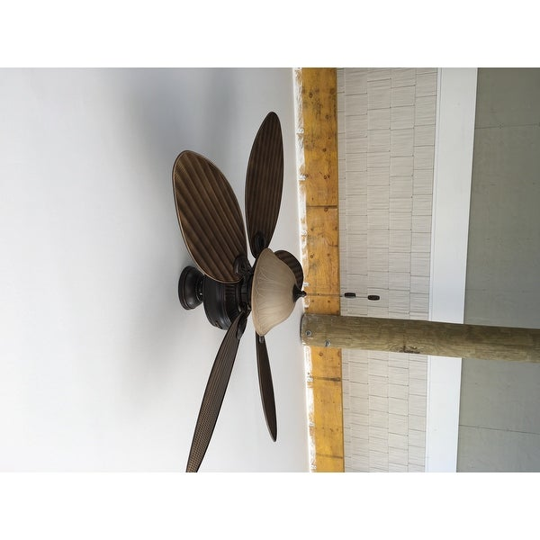 Hunter Fan Bayview Palm Leaf 54 Inch 5 Blade Ceiling Fan   Free Shipping  Today   Overstock.com   15942386