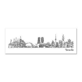 London - City Sketches - 44x15 Matte Poster Print Wall Art B&W