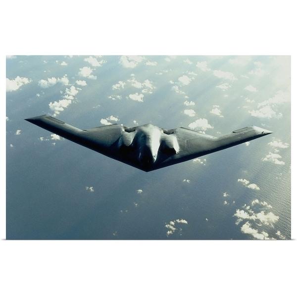 """""""B-2 Spirit bomber in flight"""" Poster Print"""
