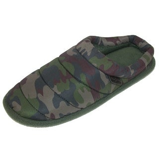 Dearfoams Men's Camouflage Quilted Clog Slipper with Memory Foam