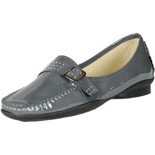Sayla Womens Made In Spain Soft Casual Moccasin Loafers Flats - gray.