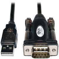Tripp Lite U209-000-R Usb 2.0 A-Male To D89-Male Serial Adapter Cable, 5Ft
