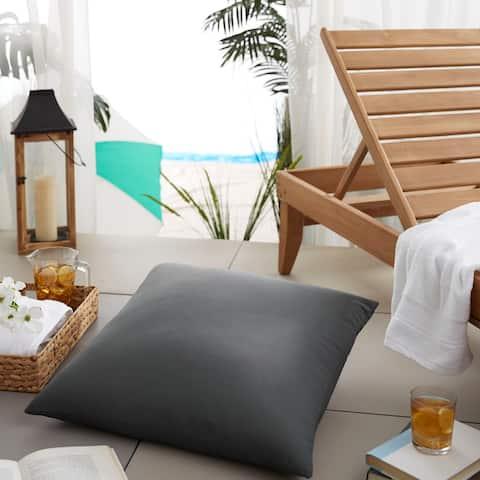 Sloane Charcoal Grey 26-inch Indoor/ Outdoor Floor Pillow