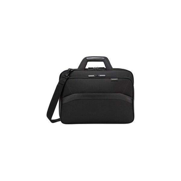 "Targus Targus EcoSmart Topload, Black Targus Spruce Carrying Case (Briefcase) for 16"" Notebook - Black - Drop Resistant -"