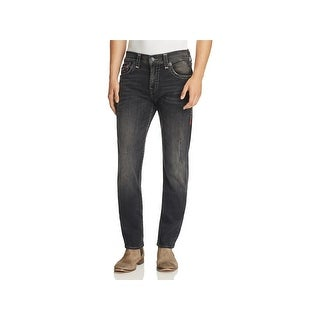 True Religion Mens Geno Slim Jeans Distressed Relaxed - 34