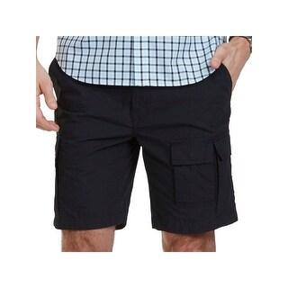Nautica Mens Navigator Cargo Shorts Modern Fit Flat Front