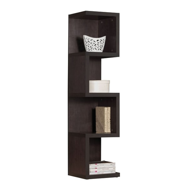 "59"" X 14"" X 14"" Wood, Veneer (PU Paper), and Engineered Wood Bookcase - Large S Shelf, Espresso"
