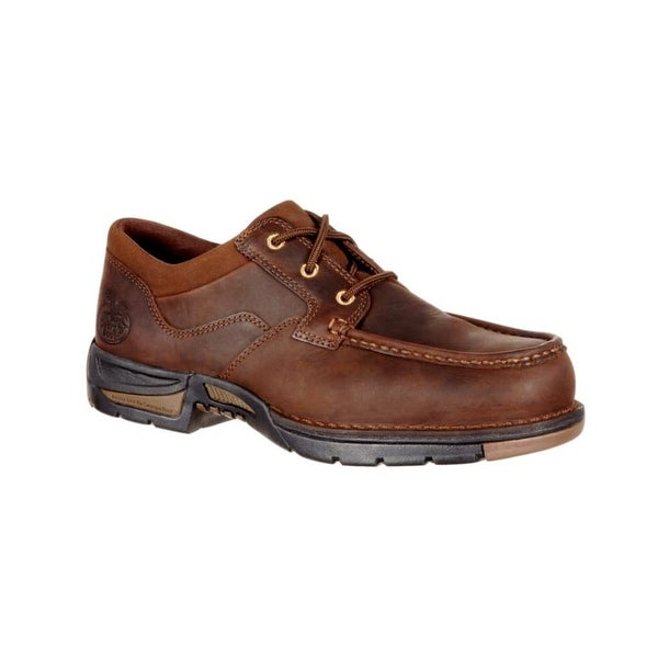 Georgia Boot Work Shoes Mens Athens Oxford Lace Up Brown