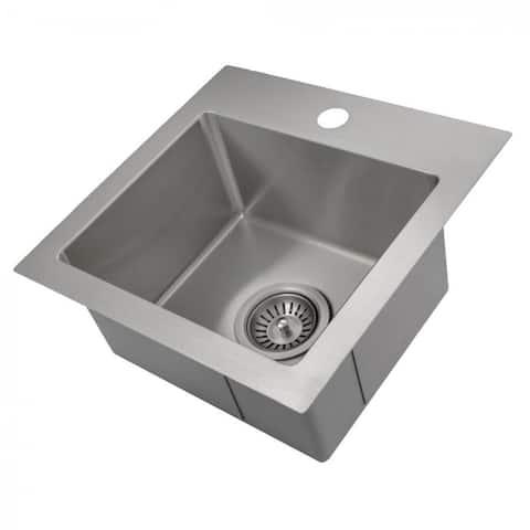 ZLINE Topmount Single Bowl Bar Kitchen Sink in Stainless Steel
