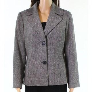 Lafayette 148 NEW Black Womens Size 10 Petite Two-Button Blazer
