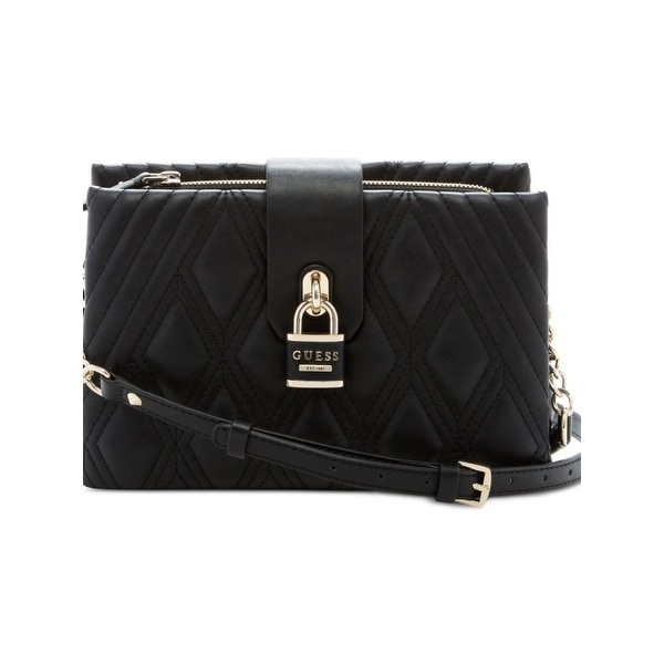 Shop Guess Womens Shea Crossbody Handbag Quilted Faux Leather - MEDIUM -  Free Shipping Today - Overstock.com - 21534169 79610b8e7f81f