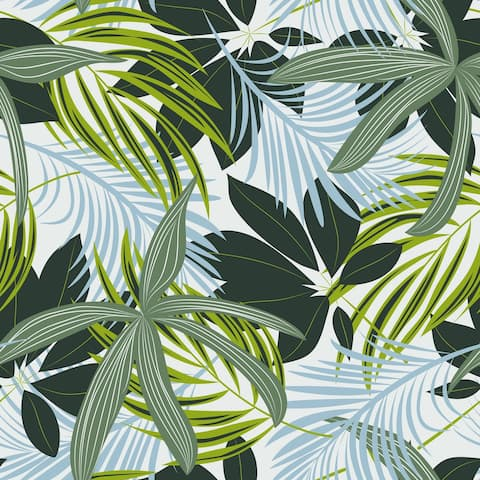 Palm Tropical Leaves Removable Wallpaper - 10'ft H x 24''inch W