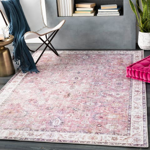 Porch & Den Lisa Persian Border Area Rug