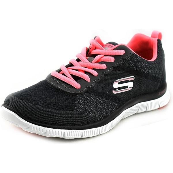 Skechers Flex Appeal-Simply Sweet Women Round Toe Canvas Gray Tennis Shoe