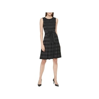 Tommy Hilfiger Womens Cocktail Dress Sleeveless Fit & Flare