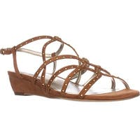 Anne Klein Mallory Studded Wedge Sandals, Medium Brown - 8 us