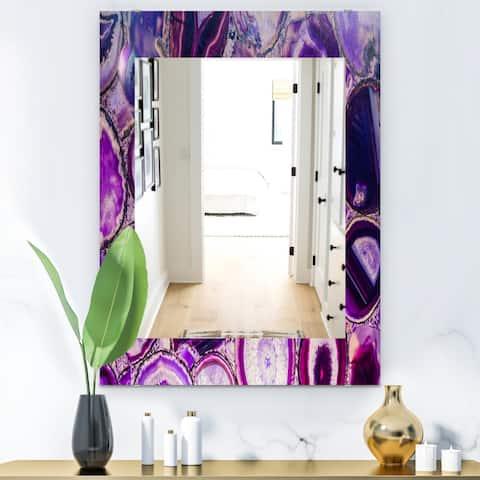 Designart 'Marbled Geode 9' Mid-Century Mirror - Wall Mirror