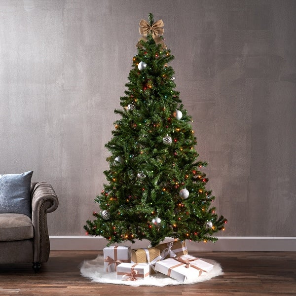 7-foot Noble Fir Hinged Artificial Christmas Tree by Christopher Knight Home. Opens flyout.